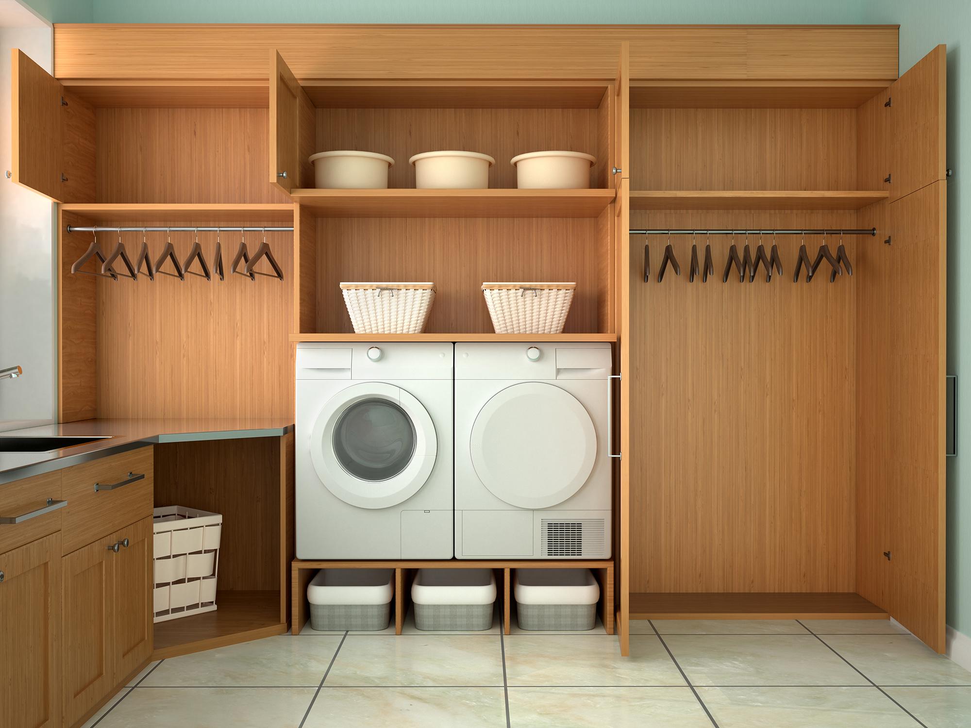 Custom Design Laundry Room Shelving Spokane